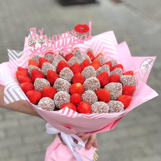 Букет из клубники в молочном шоколаде: букеты цветов на заказ Flowwow