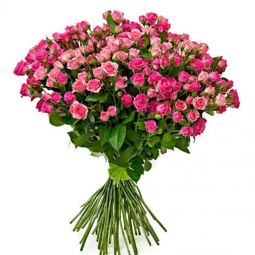 """Букет из кустовых роз """"Жизнь как вспышка"""": букеты цветов на заказ Flowwow"""