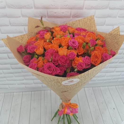 Кустовая роза микс: букеты цветов на заказ Flowwow