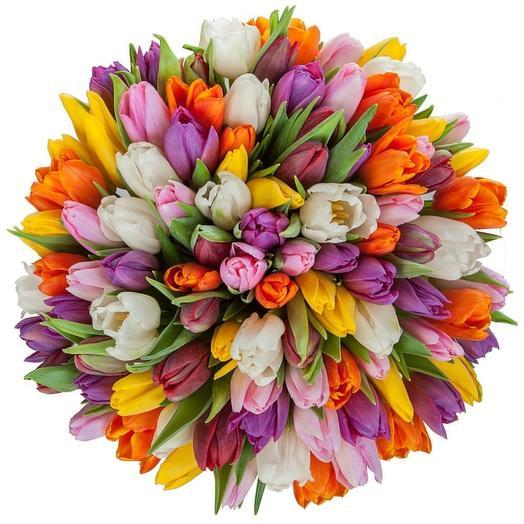 Тюльпан микс 101: букеты цветов на заказ Flowwow
