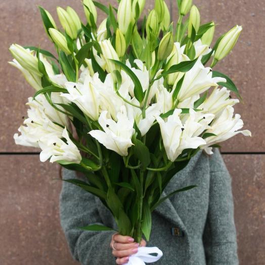Букет из 9 ароматных лилий: букеты цветов на заказ Flowwow