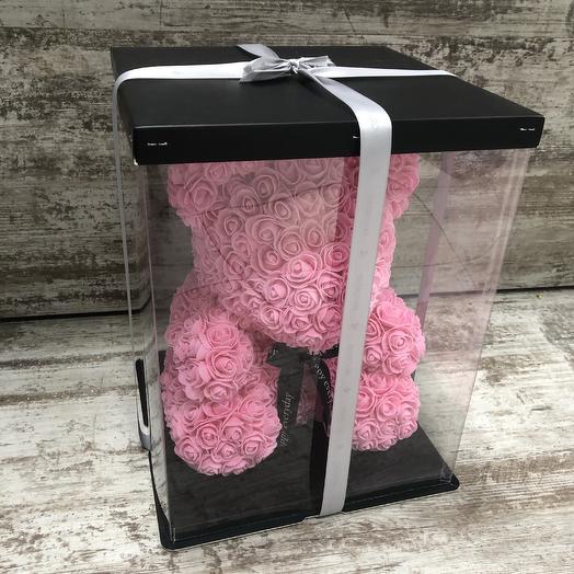 Фоамирановый Мишка розовый