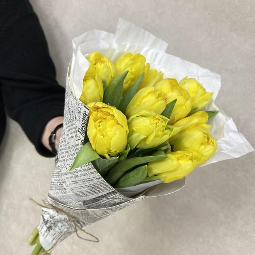 Тюльпанчики пионовидные прямо с грядки: букеты цветов на заказ Flowwow