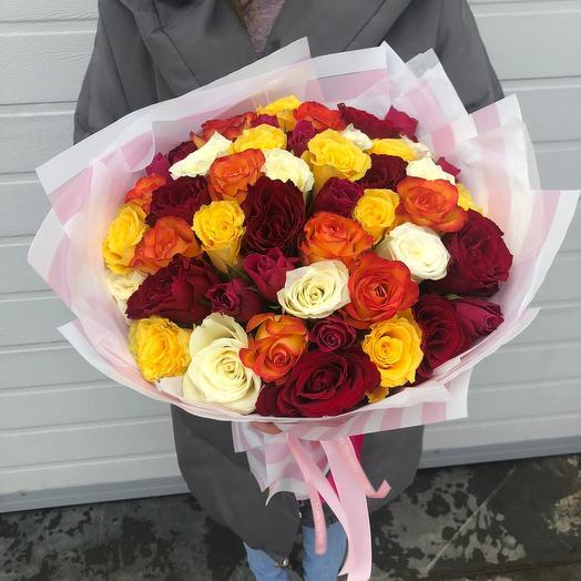 Микс Кенийской розы: букеты цветов на заказ Flowwow