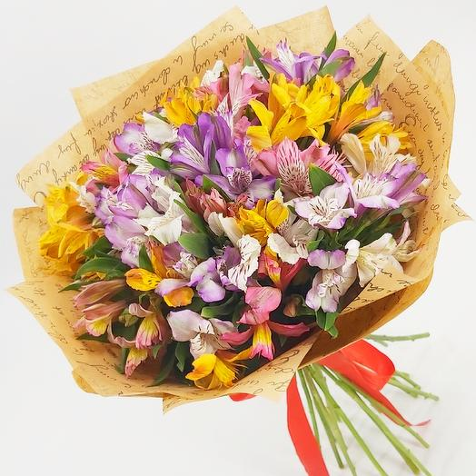 Alstroemeria mix in Kraft