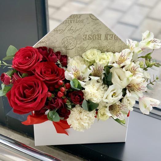 """Композиция """"Конверт Омбре»: букеты цветов на заказ Flowwow"""