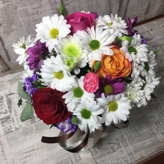 Цветочная коробочка в день влюблённых: букеты цветов на заказ Flowwow