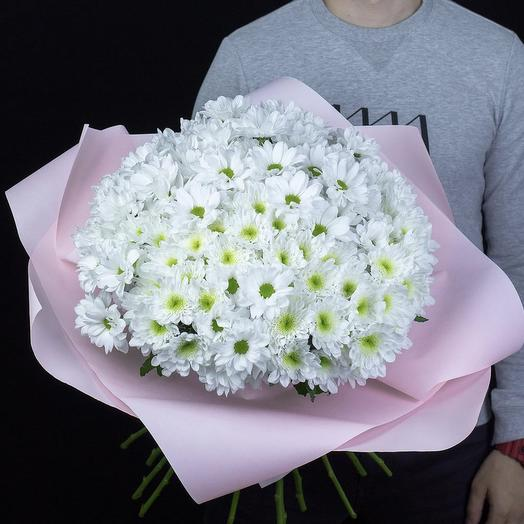 «Облако белых хризантем»: букеты цветов на заказ Flowwow