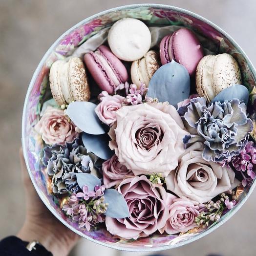 """Коробка с цветами """"Оушен сонг"""""""