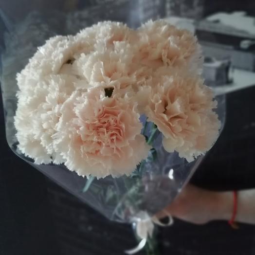 Кремовые гвоздики для ветеранов: букеты цветов на заказ Flowwow