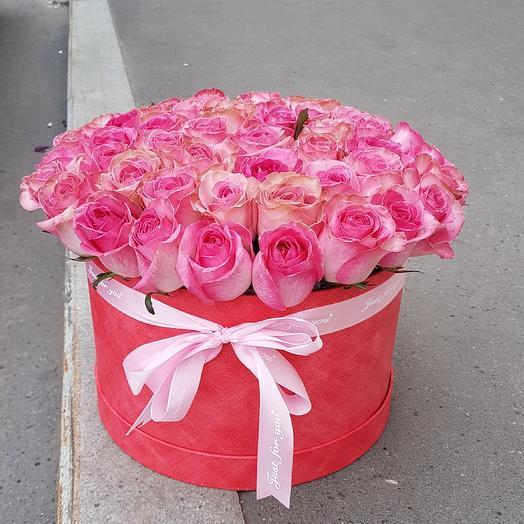 в коробке 51-роза