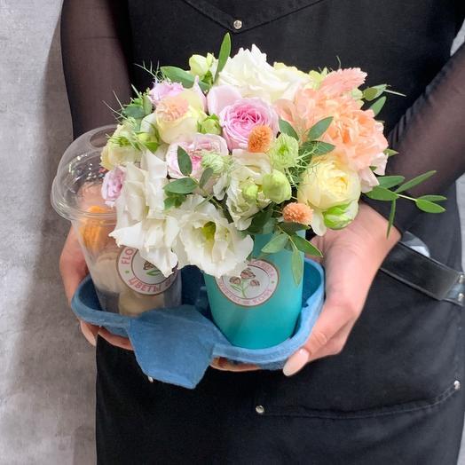 «Сладкая жизнь» композиция из ароматных роз
