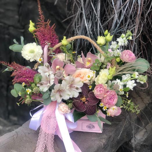 Цветы в ящике M