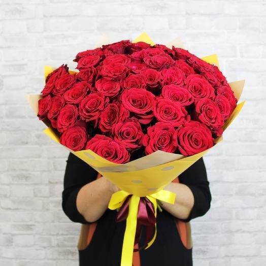 Букет из 51 красной розы Upper Class