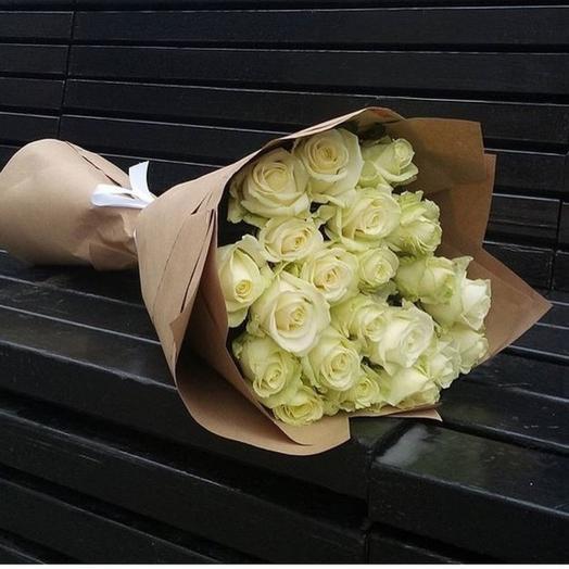 ✅ Букет Prestige, белая роза Хит