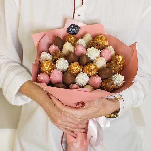 """Букет из клубники в шоколаде """"Фламинго"""""""