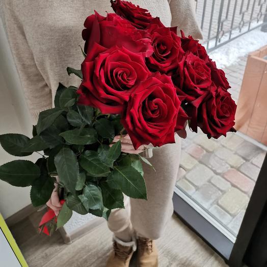 Моно букет из 9 роз