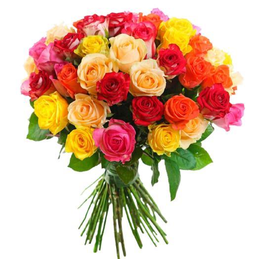Букет из 51 кенийских роз микс