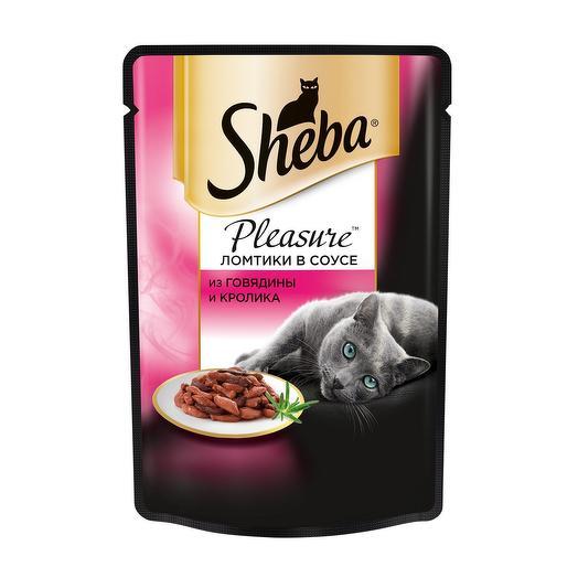 Sheba Pleasure пауч для кошек говядина/кролик 85 г