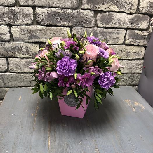 Цветы в коробке «Лаванда»
