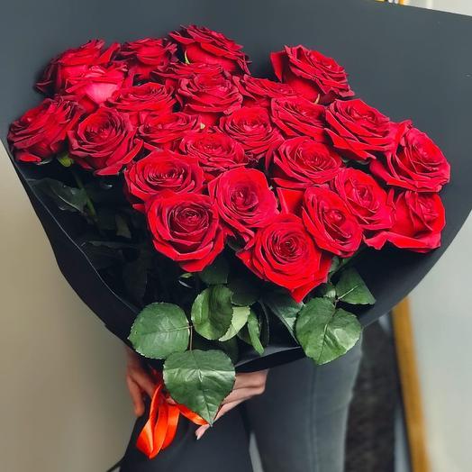 25 роз Премиум в фоамиране