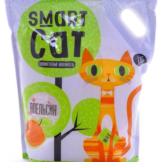 Smart Cat наполнитель силикагелевый с ароматом апельсина 7,6 л