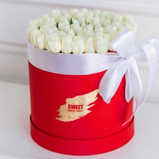 Тюльпаны коробка 101 шт