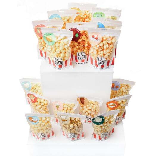 Ящик попкорна 17 вкусов
