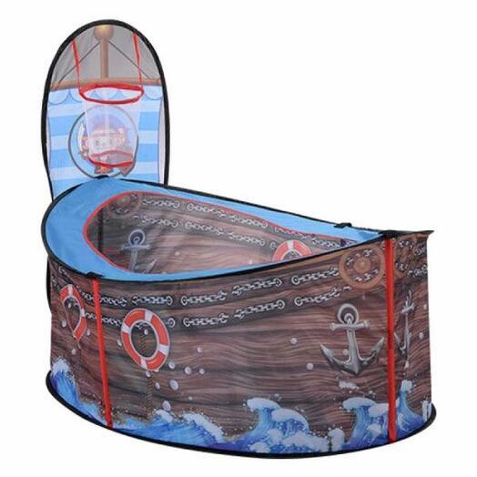 """Игровой домик - палатка """"Пиратский корабль"""", размер палатки 125*52*55 см. в сумке 36*36*5 см"""