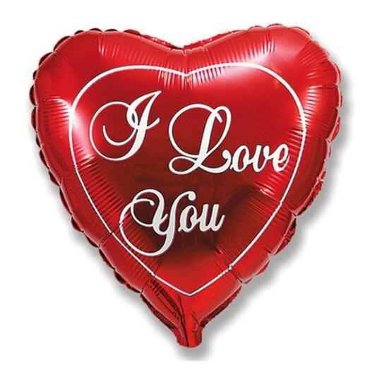 "Шар Сердце ""I Love You"" 90 см"