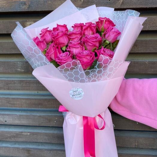 """Букет """"15 малиновых роз"""""""