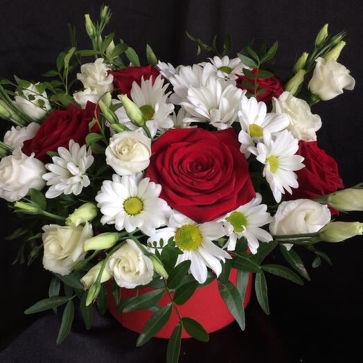Коробка с цветами  Вероника 3