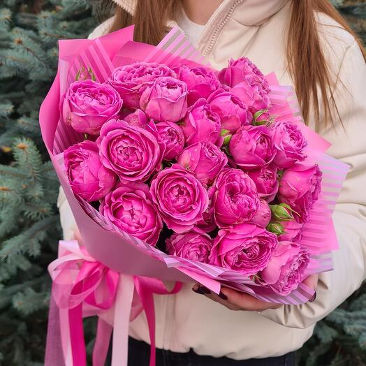 Пионовидные кустовые розы 💖