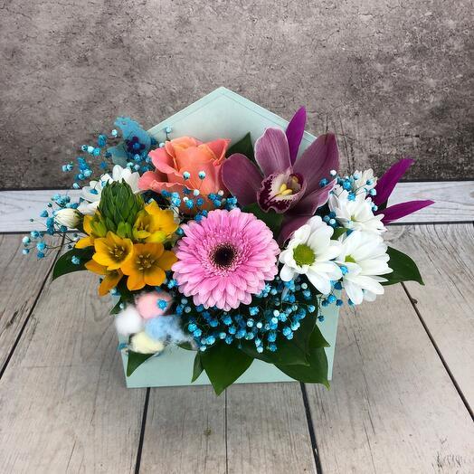 Цветы в конверте « Призент «