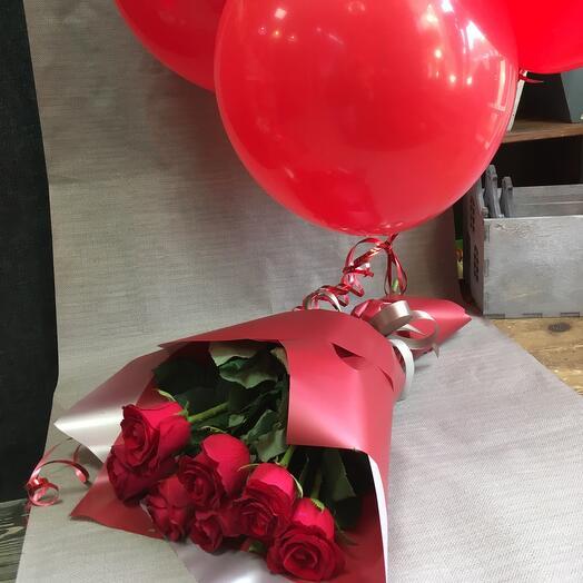 Розы и шарики
