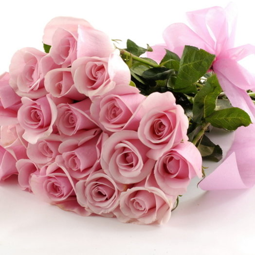 Букет из 21 розовой розы: букеты цветов на заказ Flowwow