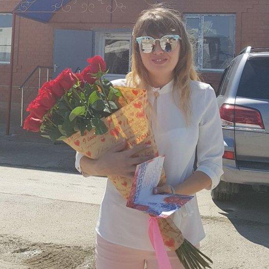 Букет 15 голландских роз Rush!: букеты цветов на заказ Flowwow