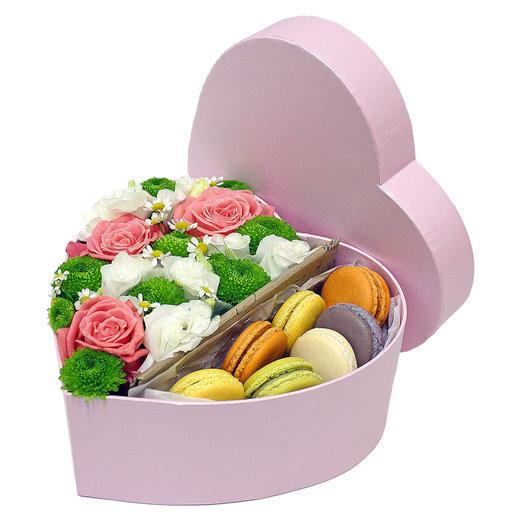 Сердце в коробочке 5: букеты цветов на заказ Flowwow