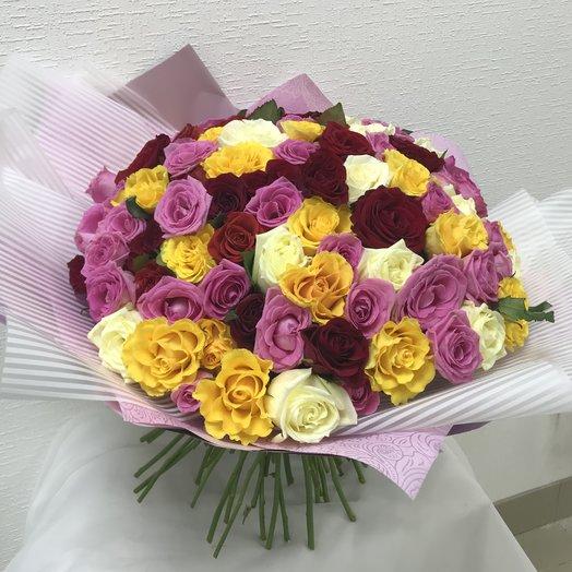 Разноцветное ассорти 101: букеты цветов на заказ Flowwow