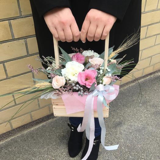 Ящик «Нежность вселенной»: букеты цветов на заказ Flowwow