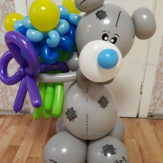 Мишка Тедди с букетом