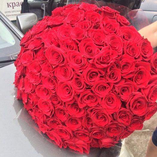 Букет из 101 роз: букеты цветов на заказ Flowwow