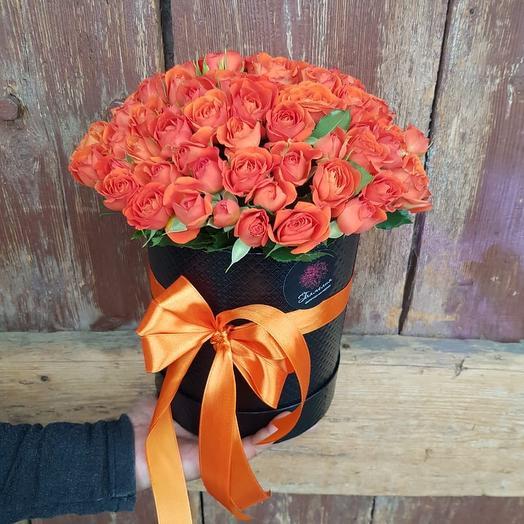 Коробочка из кустовых роз 1: букеты цветов на заказ Flowwow