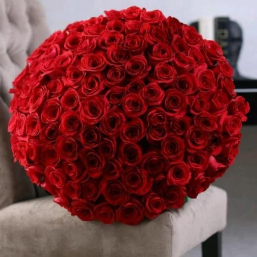 Букет из красных 101 розы: букеты цветов на заказ Flowwow