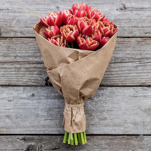 Букет из пионовидных тюльпанов: букеты цветов на заказ Flowwow