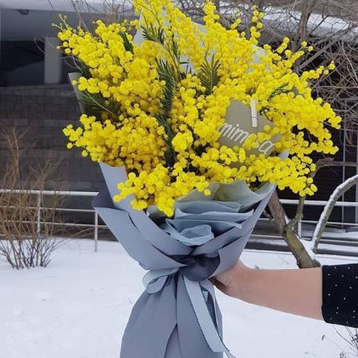 Мимоза в сером: букеты цветов на заказ Flowwow
