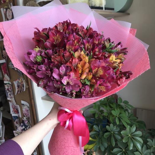 Восхитительные альстромерии микс: букеты цветов на заказ Flowwow