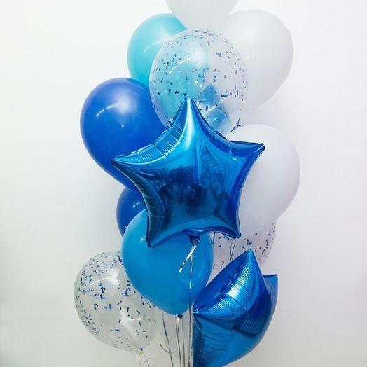13 гелиевых шаров: букеты цветов на заказ Flowwow