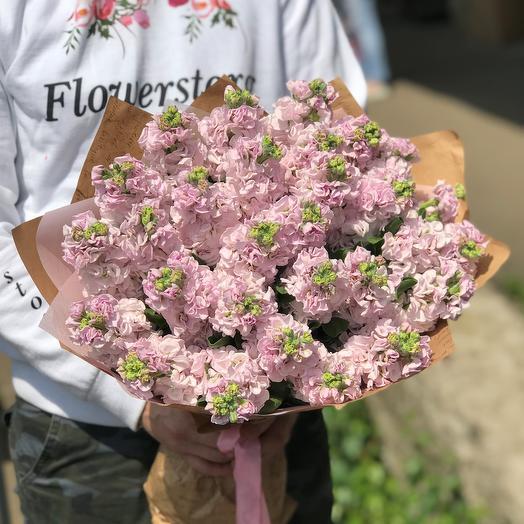 Букет из 29 розовых маттиол. N446: букеты цветов на заказ Flowwow