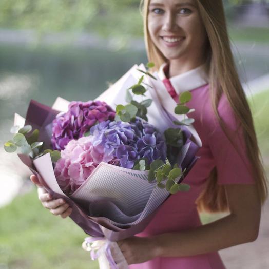 """Букет """"3 Гортензии"""": букеты цветов на заказ Flowwow"""